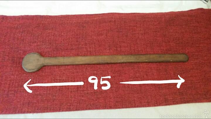Antigüedades: Sacudidor madera maciza. - Foto 2 - 54647340