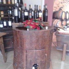 Antigüedades: ANTIGUO MUEBLE GRANERO EN MADERA DE CASTAÑO- ADAPTADO PARA BOTELLERO. Lote 54650820