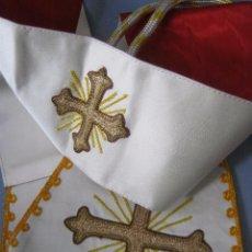 Antigüedades: ANTIGUO MANÍPULO RELIGIOSO DE SEDA BORDADA PPIO.S.XX. Lote 54666590