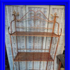 Antigüedades: ESTANTERIA PLEGABLE METALICA PARA TERRAZA O JARDIN. Lote 63886854