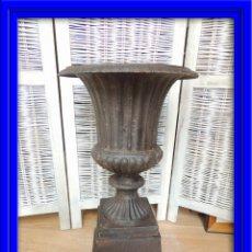 Antigüedades: COPA DE HIERRO MEDICI CON PEDESTAL. Lote 60989953