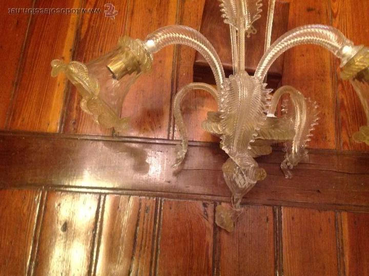 Antigüedades: APLIQUE DE CRISTAL DE MURANO 6 - Foto 7 - 54668680