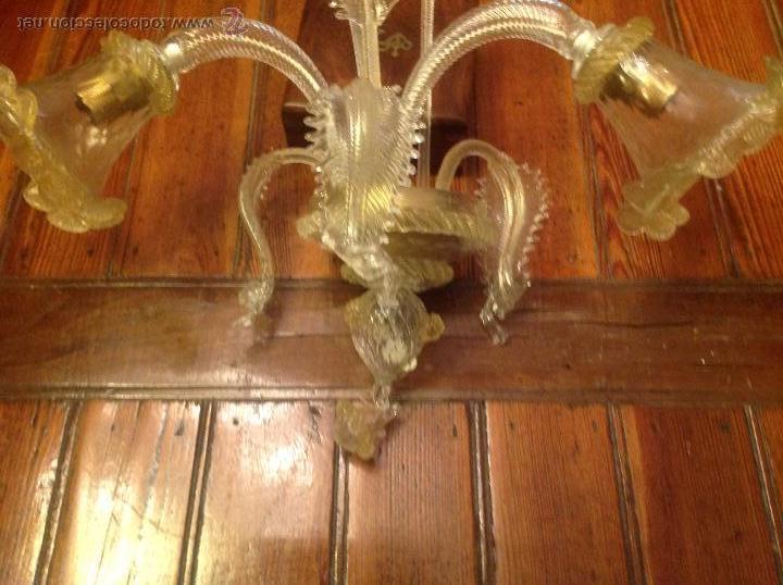 Antigüedades: APLIQUE DE CRISTAL DE MURANO 6 - Foto 8 - 54668680