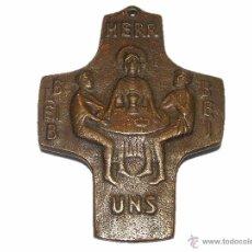 Antigüedades: ANTIGUA Y RARA CRUZ DE BRONCE.....BONITA PATINA ANTIGUA.. Lote 51071697