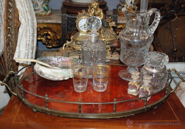 Antigüedades: PRECIOSA BANDEJA DE BRONCE Y CAREY.PRINCIPIOS SIGLO XX - Foto 10 - 54677416
