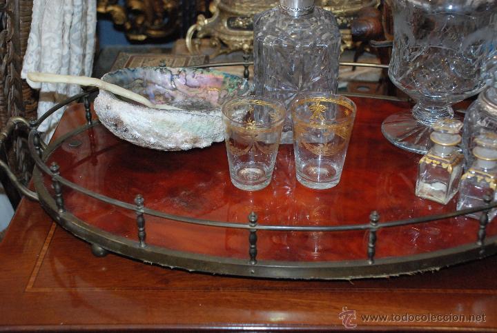 Antigüedades: PRECIOSA BANDEJA DE BRONCE Y CAREY.PRINCIPIOS SIGLO XX - Foto 11 - 54677416