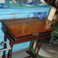Antigüedades: MUY BONITO COSTURERO DE MARQUETERÍA. Lote 54678442