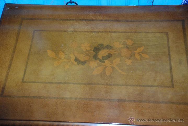 Antigüedades: MUY BONITO COSTURERO DE MARQUETERÍA - Foto 3 - 54678442