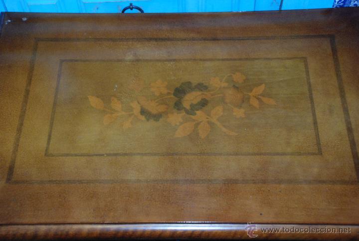 Antigüedades: MUY BONITO COSTURERO DE MARQUETERÍA - Foto 8 - 54678442