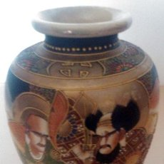 Antigüedades: ANTIGUO JARRÓN EN CERÁMICA SATSUMA . Lote 54685330