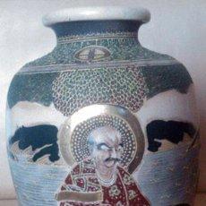 Antigüedades: ANTIGUO JARRÓN EN CERÁMICA SATSUMA. Lote 54685708