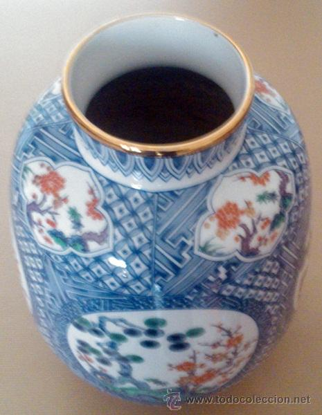 Antigüedades: JARRÓN EN PORCELANA JAPÓN - Foto 2 - 54685985