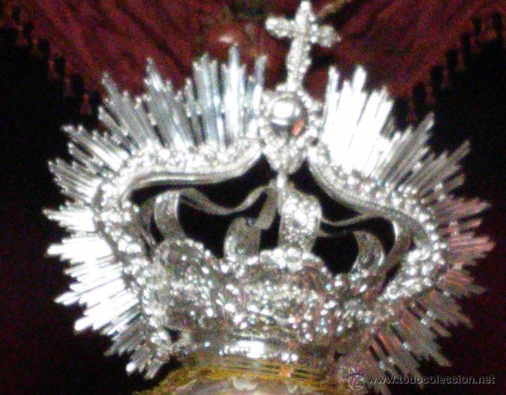 Antigüedades: IMPRESIONANTE CORONA LABRADA PARA IMAGEN TAMAÑO REAL DE PROCESION - Foto 3 - 54688402