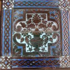 Antigüedades: COMPOSICION DE AZULEJOS (TRIANA). Lote 54697490