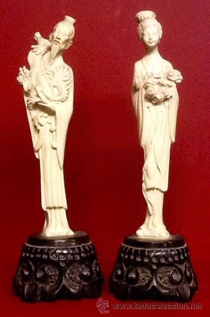 LIQUIDACION DE STOCK - PAREJAS JAPONESAS (Antigüedades - Hogar y Decoración - Figuras Antiguas)