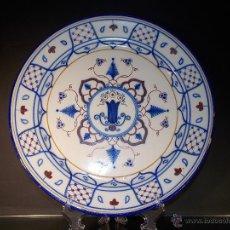 Antigüedades: PLATO ANTIGUO DE CERÁMICA ESPAÑOL RIBESALBES. Lote 54707811