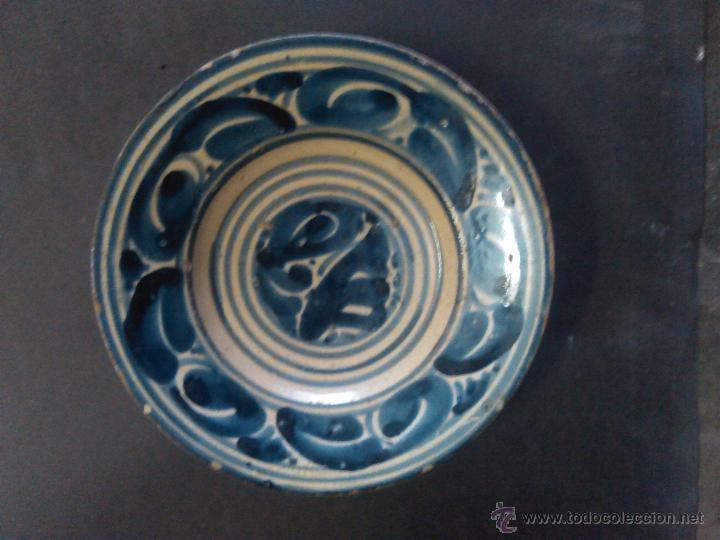 Antigüedades: plato de ceramica catalana - Foto 3 - 54708007