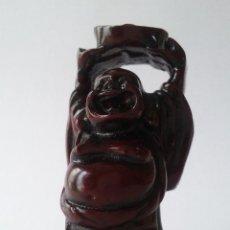 Antigüedades: BUDA FELIZ SONRIENTE. FELICIDAD. HOTEI. BU-DAI. NETSUKE. PEQUEÑA FIGURA DE RESINA.. Lote 54713095
