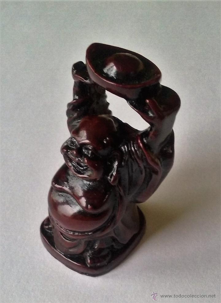 Antigüedades: BUDA FELIZ SONRIENTE. FELICIDAD. HOTEI. BU-DAI. NETSUKE. PEQUEÑA FIGURA DE RESINA. - Foto 3 - 54713095
