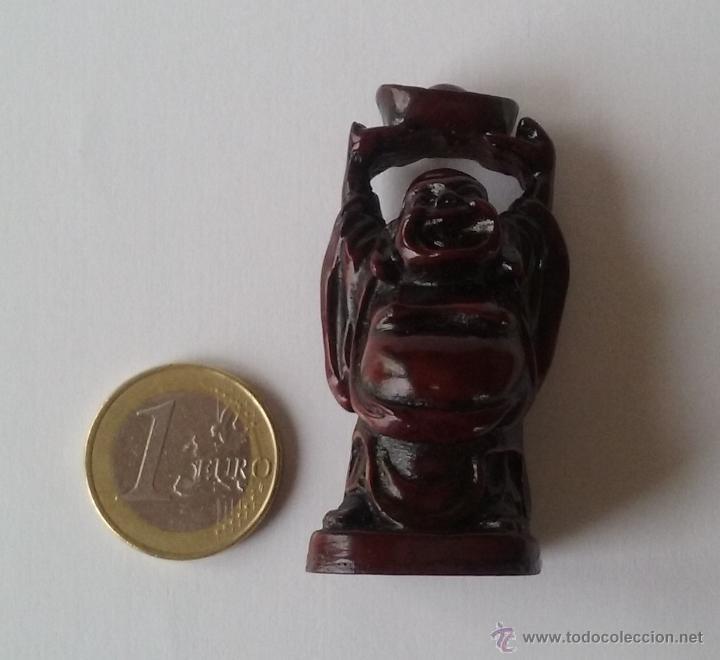 Antigüedades: BUDA FELIZ SONRIENTE. FELICIDAD. HOTEI. BU-DAI. NETSUKE. PEQUEÑA FIGURA DE RESINA. - Foto 5 - 54713095