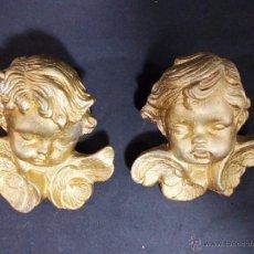 Antigüedades: LOTE DE DOS ANGELITOS O PUTIS EN ESCAYOLA. Lote 54714504