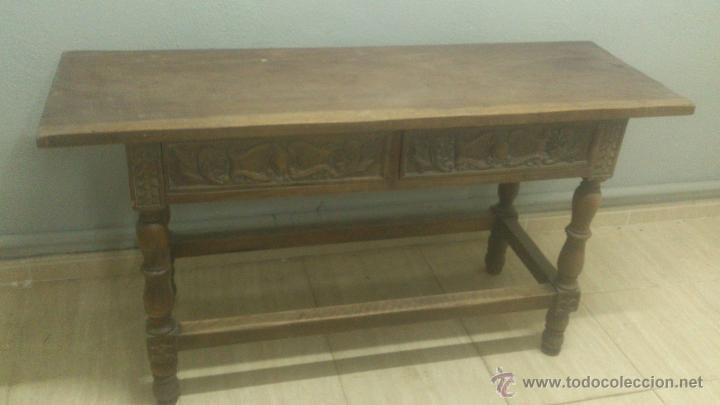 Antigua mesa auxiliar o de recibidor tallada a comprar - Mesas auxiliares antiguas ...