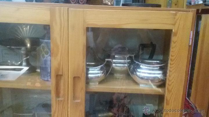 Antigüedades: ENORME GRAN JUEGO TÉ CAFÉ..PLATA 925 MACIZA 1330 gm TETERA LECHERA AZUCARERO ,2.420,00 € FIRMADO - Foto 5 - 54700326