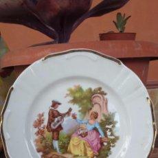 Antiquitäten - antiguo plato fragonars, escenas galantes y filos de oro - 54728180