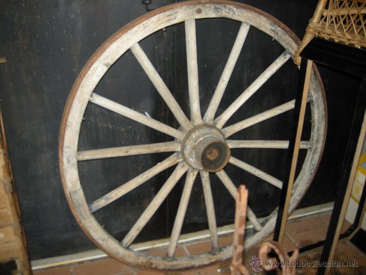 Antigüedades: Rueda de carro. - Foto 2 - 54732541