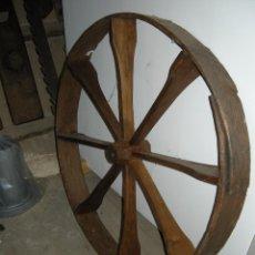 Antigüedades: RUEDA DE MADERA. Lote 54732591