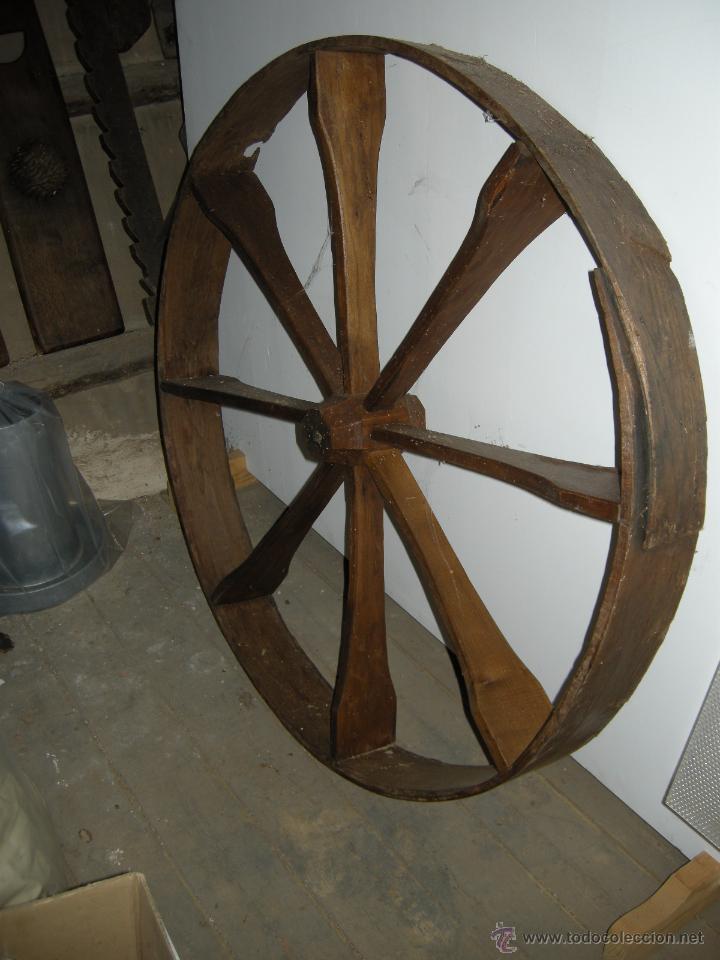 Antigüedades: Rueda de madera - Foto 2 - 54732591