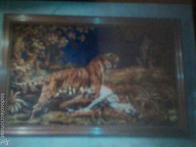 tapiz muy grande con marco madera - Comprar Tapices Antiguos en ...