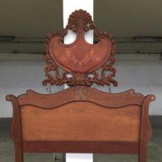 Antigüedades: CAMA MALLORQUINA DE 150 CON MARQUETERIA. Lote 50213998