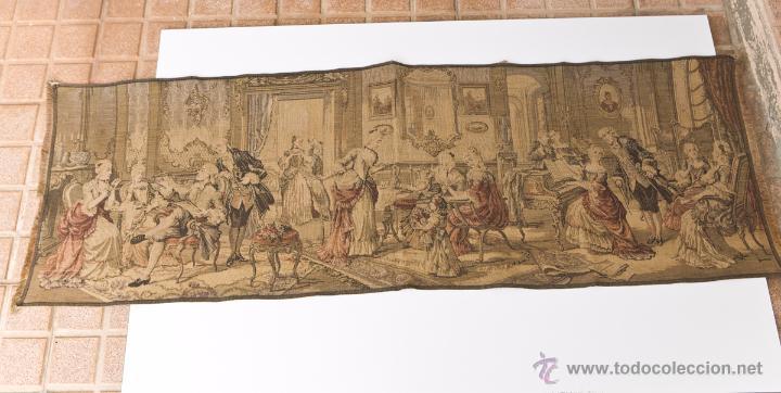 PRECIOSO ANTIGUO TAPIZ VENECIANO DE FINALES SIGLO XIX. ESCENA GALANTE. (Antigüedades - Hogar y Decoración - Tapices Antiguos)