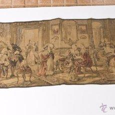 Antigüedades: PRECIOSO ANTIGUO TAPIZ VENECIANO DE FINALES SIGLO XIX. ESCENA GALANTE.. Lote 54740783