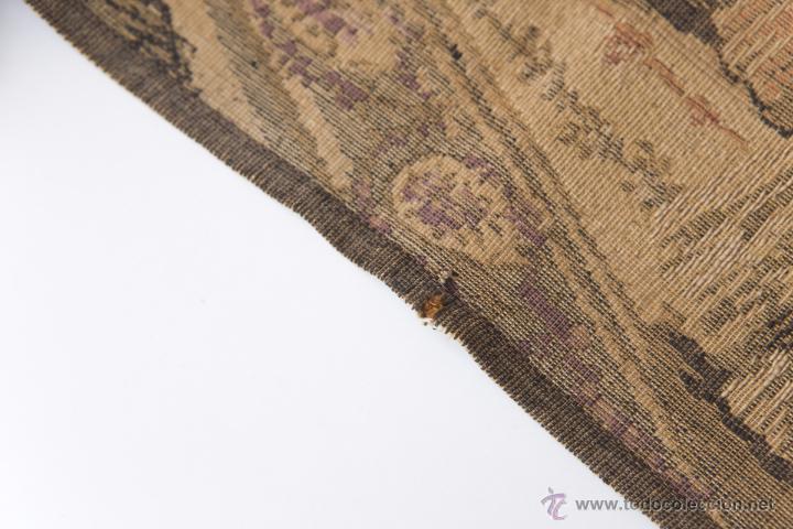 Antigüedades: Precioso Antiguo Tapiz Veneciano de finales siglo XIX. Escena galante. - Foto 4 - 54740783