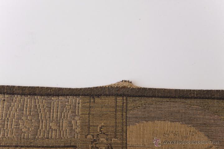 Antigüedades: Precioso Antiguo Tapiz Veneciano de finales siglo XIX. Escena galante. - Foto 5 - 54740783