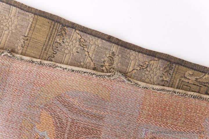 Antigüedades: Precioso Antiguo Tapiz Veneciano de finales siglo XIX. Escena galante. - Foto 6 - 54740783