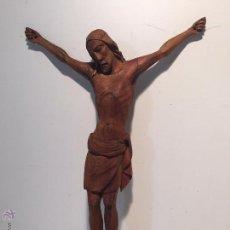 Antigüedades: CRISTO DE TALLA DE MADERA ANTIGUO.. Lote 54743334