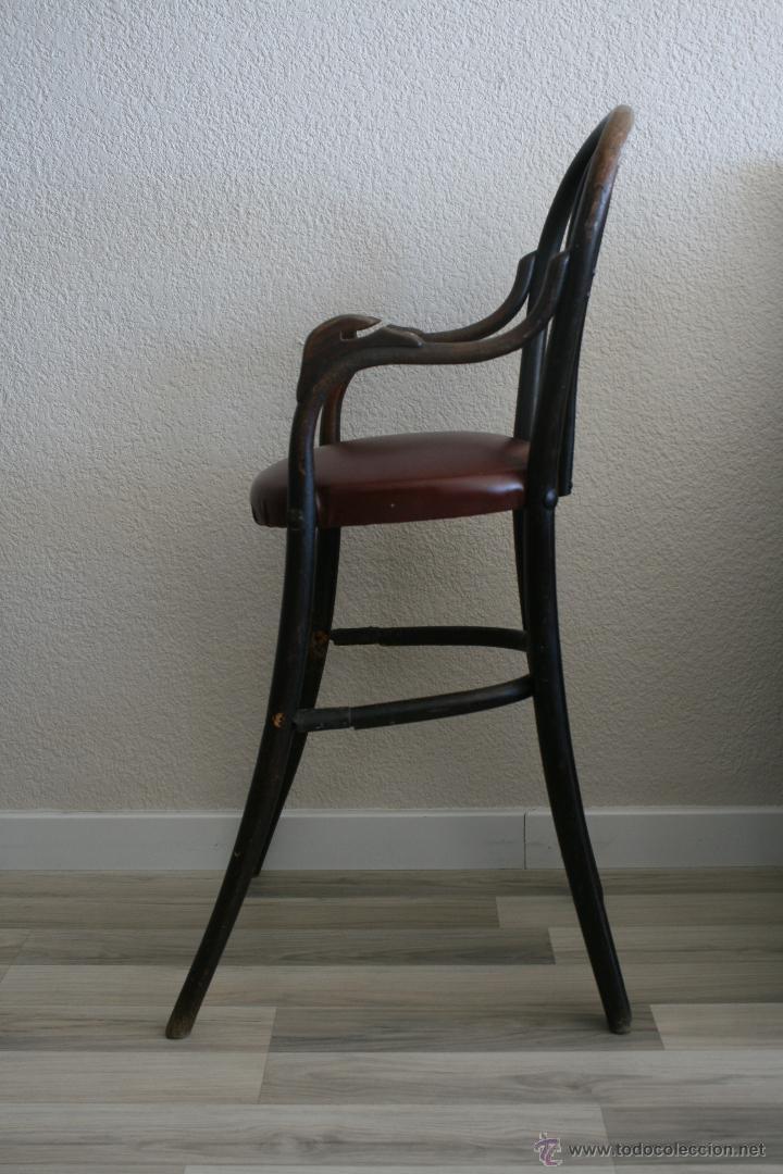 Antigua trona silla para comer de bebe de mader comprar for Silla de bebe de madera