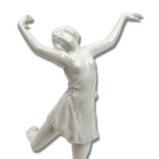 Antigüedades - Bailarina-de-porcelana-Rosenthal-firmada-por-Charol - 54748823