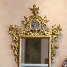 Antigüedades: ESPEJO CORNUCOPIA-DE-MADERA-TALLADA SIGLO XVIII. Lote 54751328