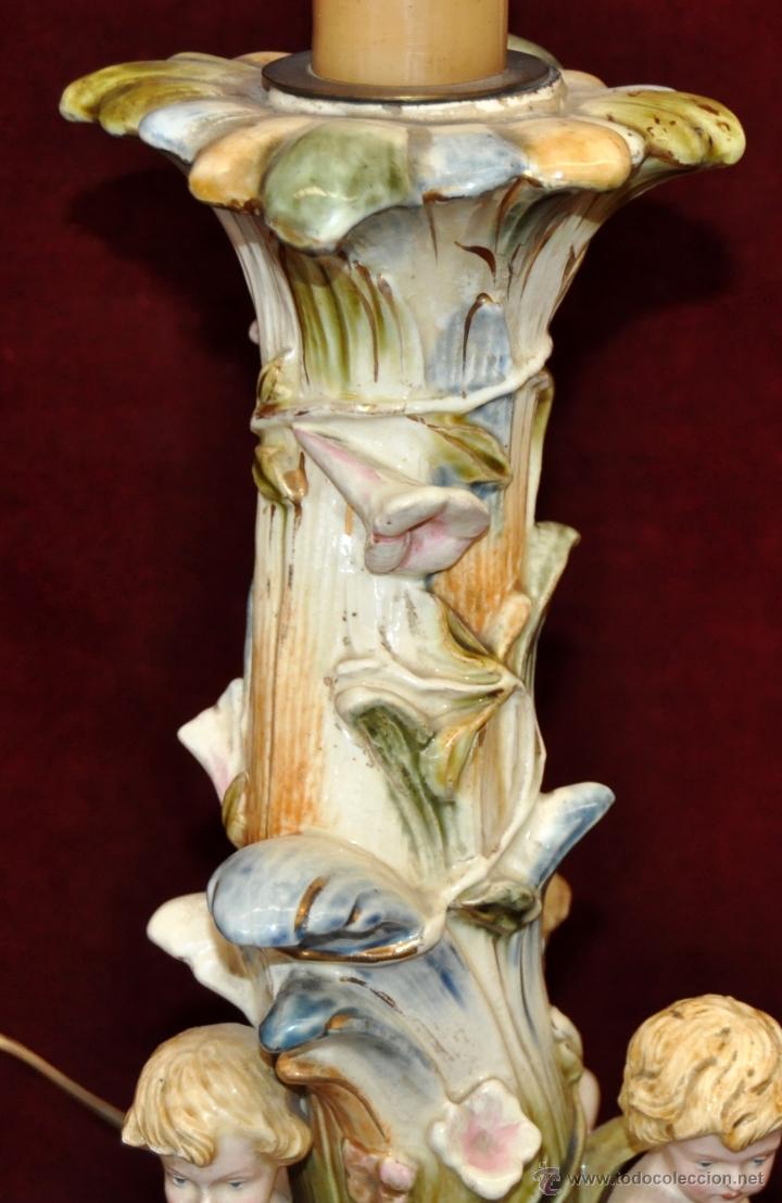Antigüedades: MAGISTRAL CANDELERO EN PORCELANA ALEMANA DE FINALES DEL SIGLO XIX - Foto 2 - 54753148