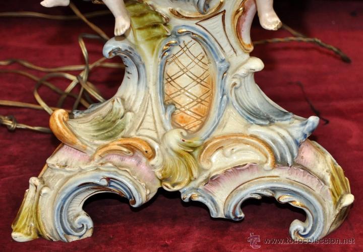 Antigüedades: MAGISTRAL CANDELERO EN PORCELANA ALEMANA DE FINALES DEL SIGLO XIX - Foto 4 - 54753148