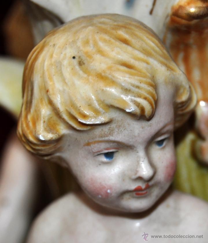 Antigüedades: MAGISTRAL CANDELERO EN PORCELANA ALEMANA DE FINALES DEL SIGLO XIX - Foto 10 - 54753148