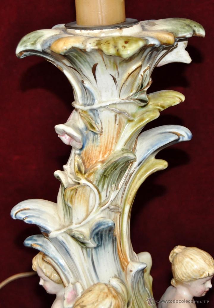 Antigüedades: MAGISTRAL CANDELERO EN PORCELANA ALEMANA DE FINALES DEL SIGLO XIX - Foto 12 - 54753148