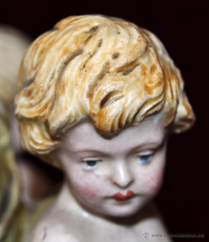 Antigüedades: MAGISTRAL CANDELERO EN PORCELANA ALEMANA DE FINALES DEL SIGLO XIX - Foto 15 - 54753148