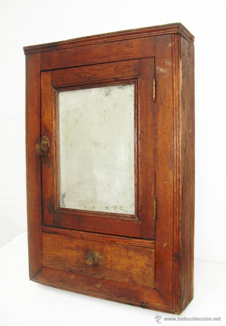 Maravilloso mueble nordico antiguo tipo botiqu comprar - Muebles antiguos de madera ...