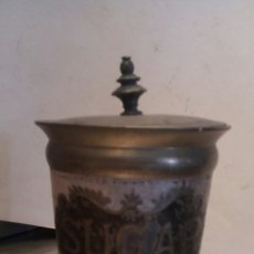 Antigüedades: AZUCARERO EN METAL, ESMALTADO. Lote 54754336
