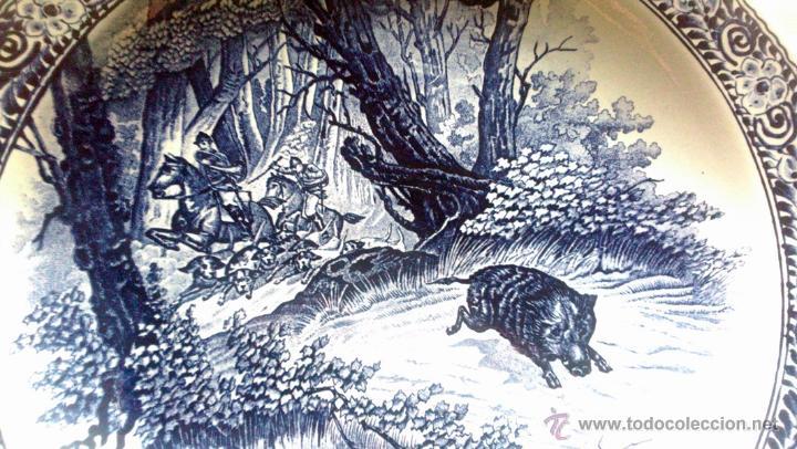 Antigüedades: ANTIGUO PLATO PORCELANA DELFT (BOCH) BÉLGICA - Foto 4 - 54755818